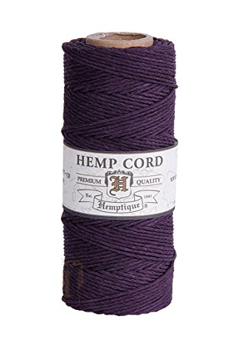 PLUM-1mm-Polished-Hemp-Twine-Hemptique-Cord-Macrame-Bracelet-Thread-Artisan-String-20lbs-205ft-Spool