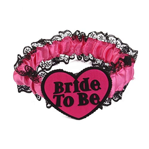 Bride To Be - Bride To Be Hen Night Party Pink Black Lace Garter Bridal Gift - Bachelorette Outfit Women Margarita Napkins Kate Guide Dish Case Coffee