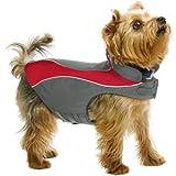 Kakadu Pet Explorer Nylon Fleece Reflective Dog Coat, 14″, Flame (Red), My Pet Supplies