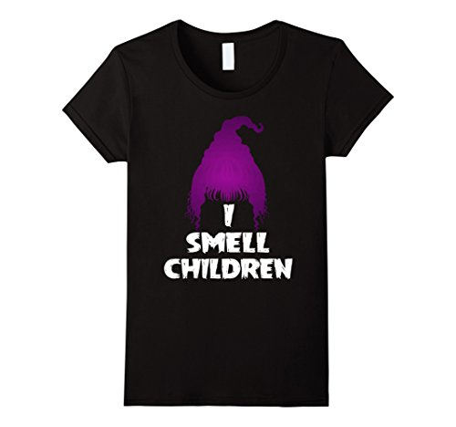 Womens I Smell Children Funny Halloween T-Shirt XL Black (Hocus Pocus Costumes Sanderson Sisters)