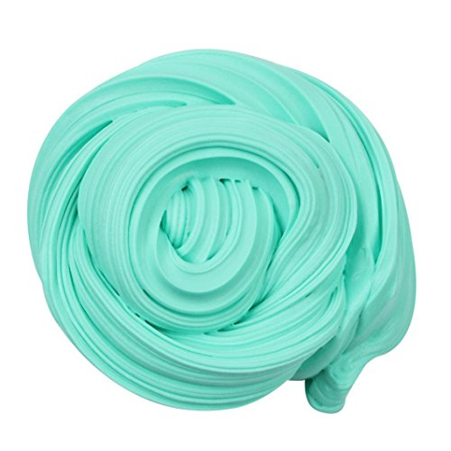 Dirance 50ml Fluffy Slime Jumbo Floam Butter Slime Stress Relief No Borax Sludge Toy Beautiful Color Cloud Clay Toy for Kids (Sky Blue) ()