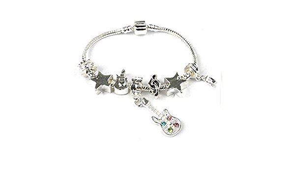 Liberty Charms Teenager/'sTween/'s /'Bling-A-Ling/' Silver Plated Charm Bead Bracelet with Gift Box /& Velvet Pouch