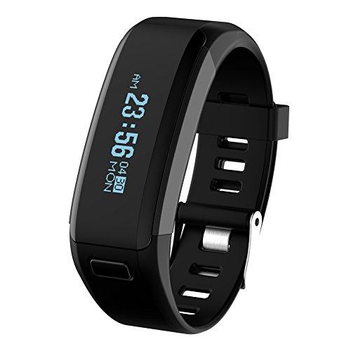 diamondo-no1-smartband-f1-waterproof-silicone-material-wristbands-sports-intelligen-black