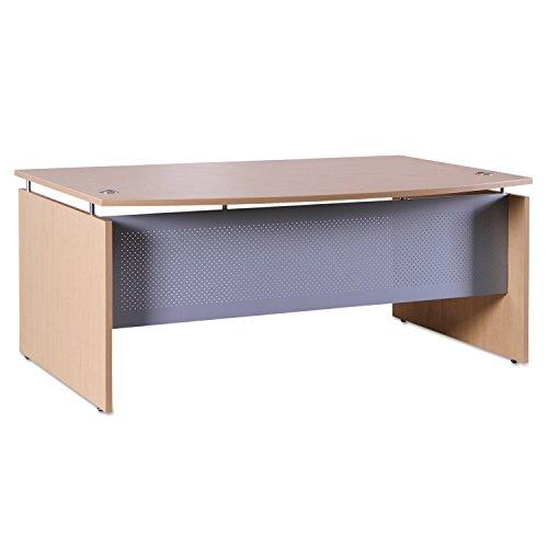 Alera SE227242MP SedinaAG Series Bow Front Desk Shell, 72w x 42d x 29-1 2h, Maple