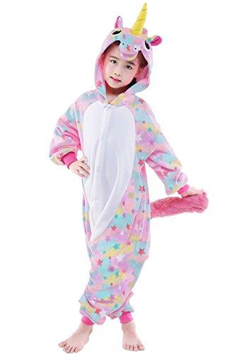 NEWCOSPLAY Unisex Children Unicorn Pyjamas Halloween Costume (5-Height 41-46'', Colorful) by NEWCOSPLAY (Image #3)