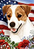 "Jack Russell Terrier Dog – Tamara Burnett Patriotic I Garden Dog Breed Flag 12"" x 17"" Review"