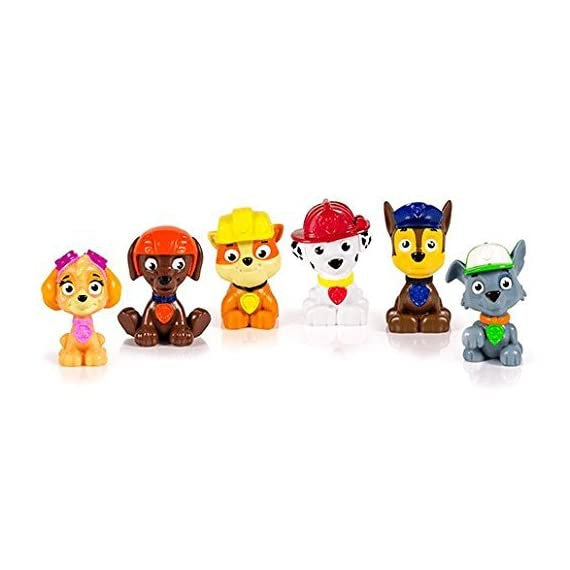 paw patrol Parent 2 Paw Patrol miniature figures, individually packaged, set of 6 miniature figures includes: Rubble, Chase, Skye, Zuma, Rocky and Marshall Take Paw Patrol mini Pups in your pockets everywhere you go! Paw Patrol miniature figures measure approximately 1 -3/4 inches in height.