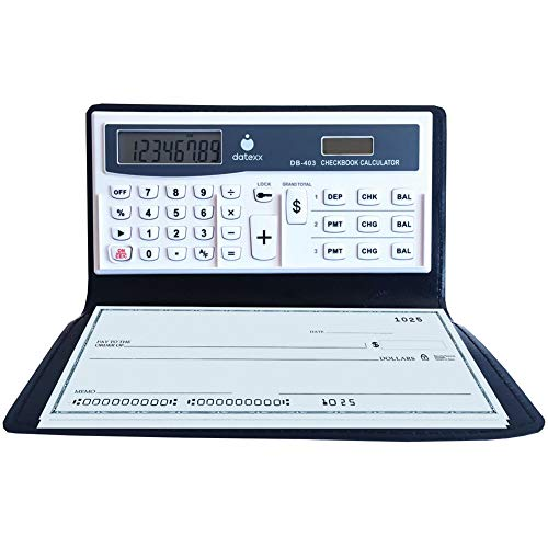 Datexx 3 Memory Checkbook Calculator - Features Secure Password Protection