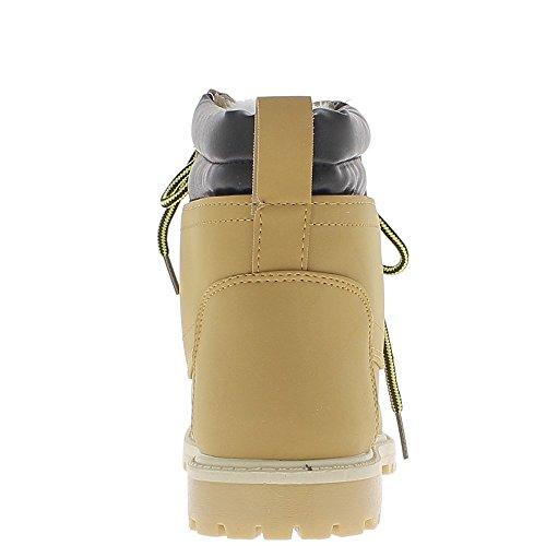 ChaussMoi Stivali Cammello farcito con Tacco 2,5 cm con Suola ramponi