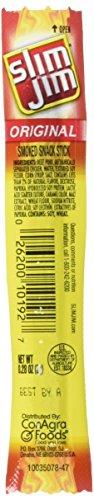 Slim Jim Smoked Snack Sticks  Original   28 Ounce  120 Count