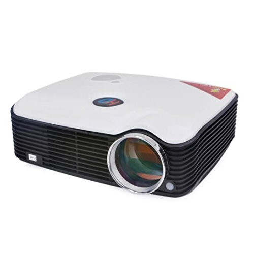 Wensltd 800*600 2500 Lumens LED Projector LCD HDMI USB For Home Theater (White) by WensLTD
