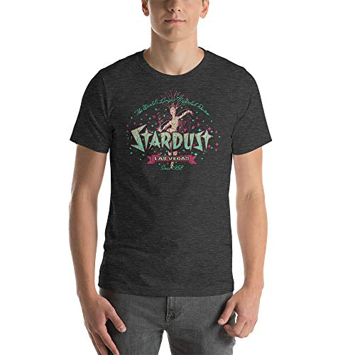 Stardust Resort & Casino Vintage Las Vegas T-Shirt Dark Grey Heather ()