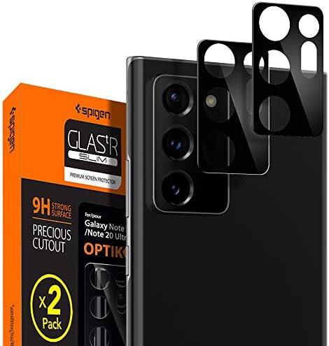 Spigen Camera Lens Screen Protector [Glas.tR Optik] Tempered Glass Designed for Galaxy Note 20 Ultra [Black] – Case Friendly / 2 Pack
