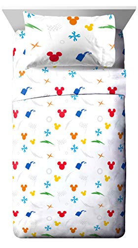 (Jay Franco Disney Mickey Mouse Trophy Twin Sheet Set - Super Soft and Cozy Kid's Bedding - Fade Resistant Polyester Microfiber Sheets (Official Disney Product))
