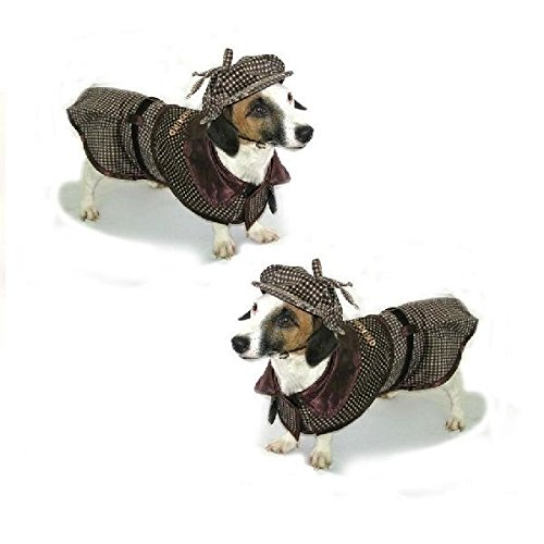 Dog Costume SHERLOCK HOUND COSTUMES - Famous Detective Dogs Outfit(Size 5)