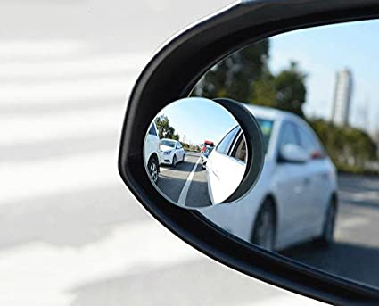 Two Pieces Aimee/_JL Upgrade 2 Blind Spot Mirrors 360 Degree Rotate Sway Adjustabe HD Glass Convex Wide Angle Rear View Car SUV Universal Fit Stick-On Lens