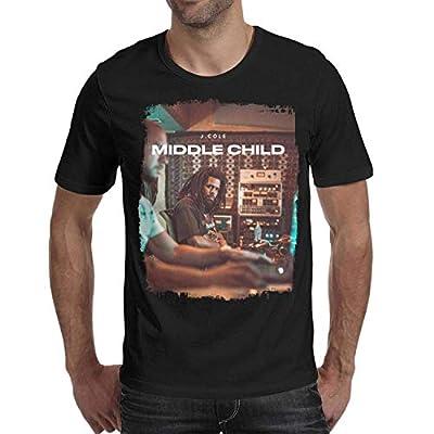 GreatLong Mens Short Sleeve Cotton t-Shirts J.Cole-Middle-Child- Shirt M