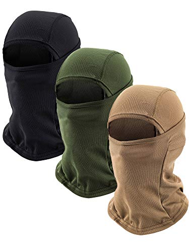 3 Pieces Balaclava Mask Motorcycle Windproof Camouflage Fishing Face Cover (Color Set 4)