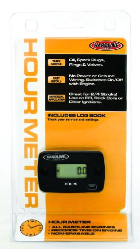 Hardline Products HR-8063-2 Hour Meter for 2-Cylinder Engines