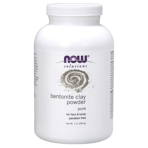 Now Solutions, Bentonite Clay Powder, Pure Powder for Face and Body, Great for Oily Problem Skin, 1-Pound