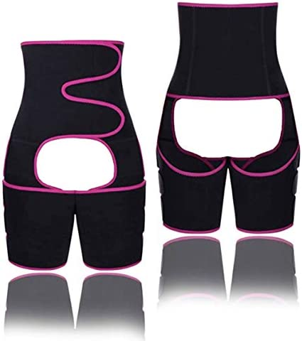 Gear District ウエスト&太ももトレーナー - 女性用ウエストトレーナー - フィットネスベルトトリマー - 軽量&快適なデザイン - 減量トレーニングに最適 - スリミングスウェットバンド
