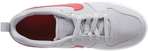 Nike Court Borough Low (GS), Zapatillas de Baloncesto Unisex Niños Gris (Wolf Grey/university Red-white 003)