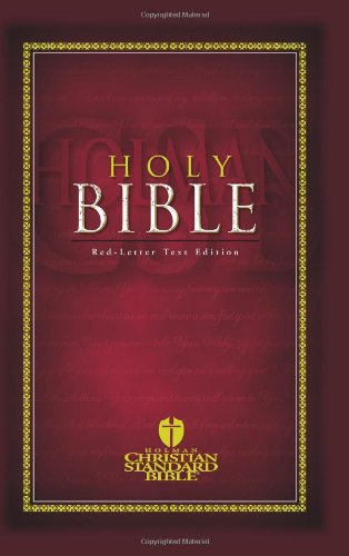 Holy Bible Holman Christian Standard Bible: Red-Letter Text Edition