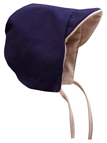 N'Ice Caps Baby Boy Reversible and Solid Cotton Twill Helmet Bonnet (Khaki/Navy Reversible 1, Infant Small (3 -