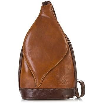 Willow LiaTalia Medium Size Genuine Italian Leather Twistlock Backpack Bag