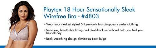 Playtex Women\'s 18 Hour Sensational Sleek Wirefree Full Coverage Bra #4803