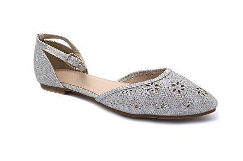 London Footwear - Ballet mujer Plateado - plata