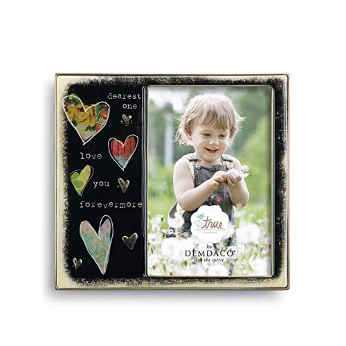 DEMDACO Heart 7 x 6.5 Enamel with Metal Accents Picture Frame