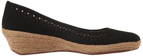 Easy Spirit Womens Derely Wedge Pump Nero Nabuk