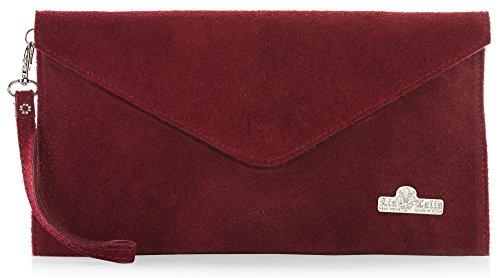 Deep Red Suede Bag - 5
