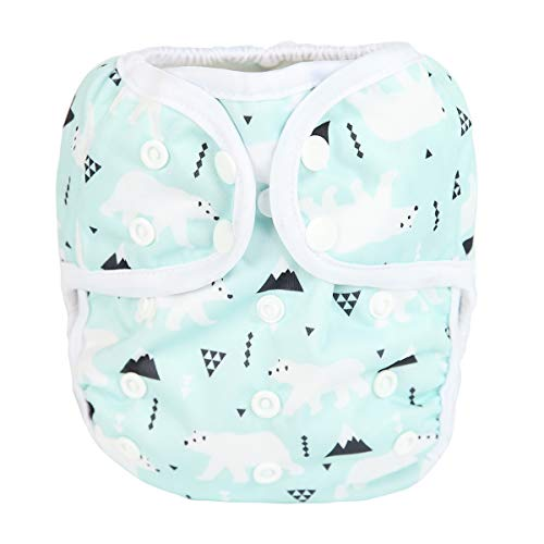 Sigzagor Baby Cloth Diaper Cover Nappy One Size 8lbs to 36lbs (Polar Bear)