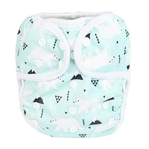 Sigzagor Baby Cloth Diaper Cover Nappy One Size 8lbs to 36lbs (Polar Bear) ()
