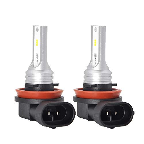 H8 H11 Led Fog Light Bulb or DRL, Extremely Bright H16 Led Fog Lamp High Power CSP-Y11, white 5500-6500K (pack of 2)