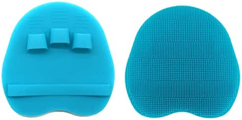 INNERNEED Soft Silicone Body Brush Bath Shower Glove Exfoliating Skin Massage Scrubber Facial Cleaning (Blue)