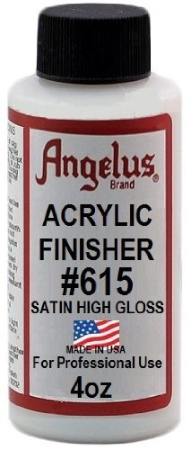 (Angelus Brand Acrylic Leather Paint Satin Finisher No. 615 - 4oz)
