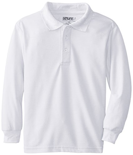 Genuine Boys' Polo Shirt (More Styles Available), Classic White, 14/16
