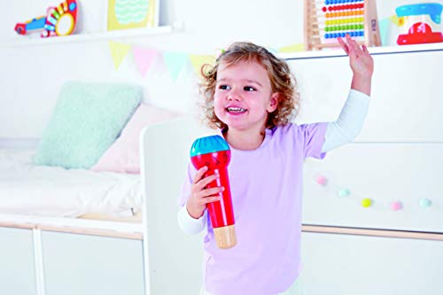 41wXjqfXKSL - Hape Mighty Echo Microphone | Battery-Free Voice Amplifying Microphone Toy for Kids 1 Year & Up