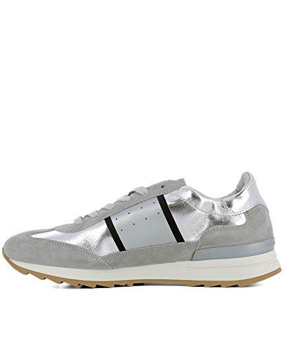 Philippe Model Damen PSLDM003 Silber Leder Sneakers