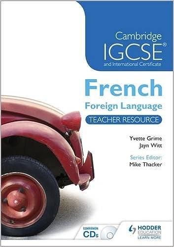 Livres gratuits en ligne Cambridge IGCSE® and International Certificate French Foreign Language Teacher Resource & Audio-CDs pdf, epub ebook