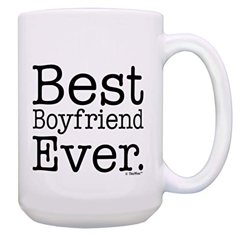 Anniversary Gifts for Men Best Boyfriend Ever Mug GF BF Gifts 15-oz Coffee Mug Tea Cup White