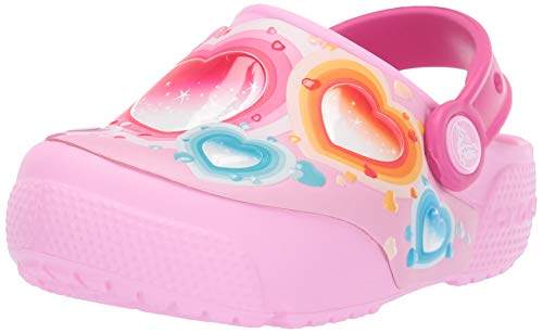 - Crocs Kids' Fun Lab Heart Light-Up Clog, Carnation, 10 M US Toddler