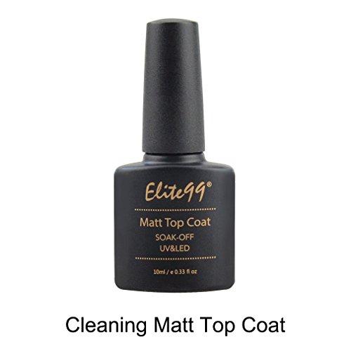 - Elite99 Cleaning Matt Top Coat Shiny UV LED Soak Off Nail Gel Polish Sealer Manicure Lacquer Nail Art 10ml