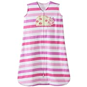 Halo Ladybug Pink Stripe Sleepsack Wearable Baby Blanket, Small