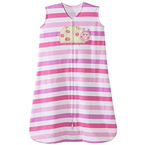 Halo Ladybug Pink Stripe Sleepsack Wearable Baby Blanket, Small (Lavender Pajamas Knit)