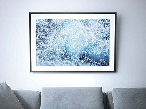 Foamy - Aerial Beach Photographic Poster Print