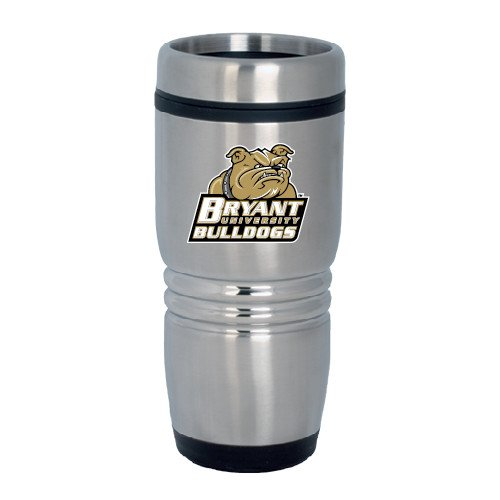 Bryant Rolling Ridges Silver Stainless Tumbler 16oz 'Bryant Official Logo' by CollegeFanGear